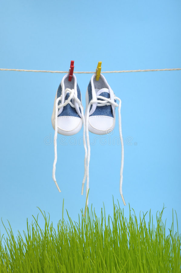 ботинки засыхания стоковая фотография