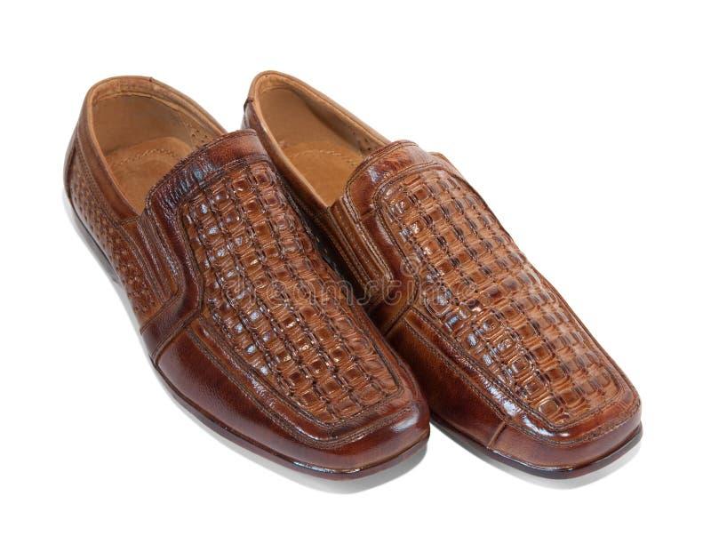 ботинки изолированные коричневым цветом стоковые изображения rf