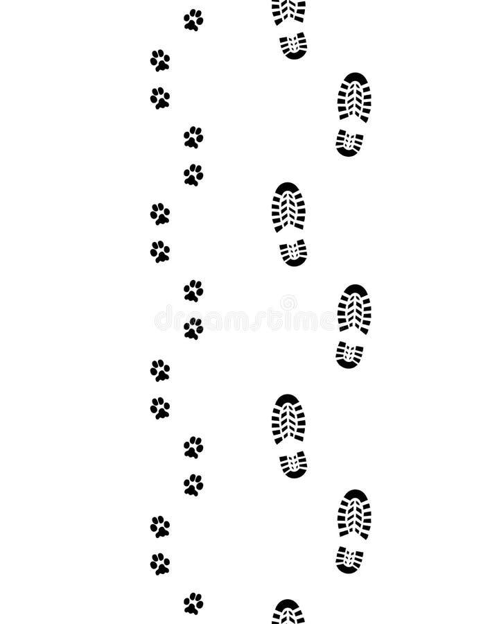 Ботинки и лапки иллюстрация вектора