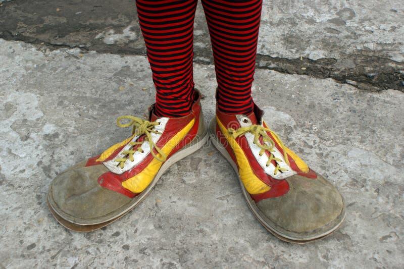 ботинки клоуна стоковые фото