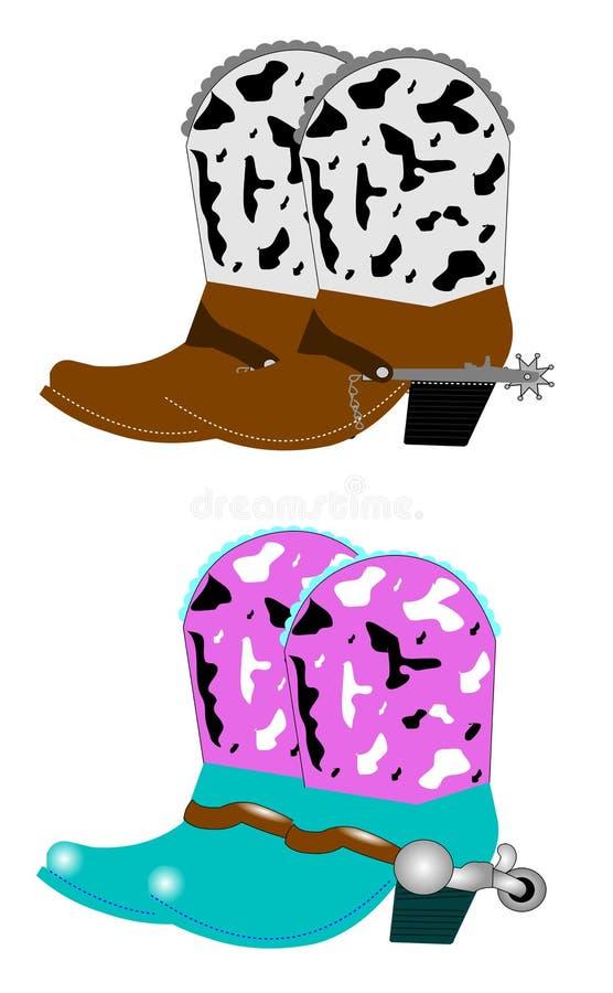 Ботинки ковбоя иллюстрация штока