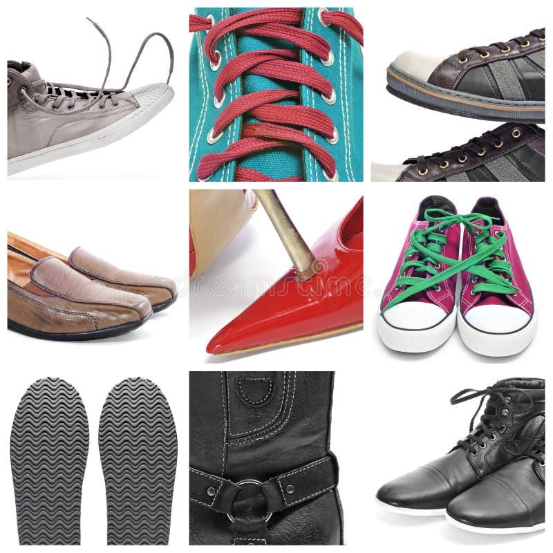 ботинки коллажа стоковое изображение