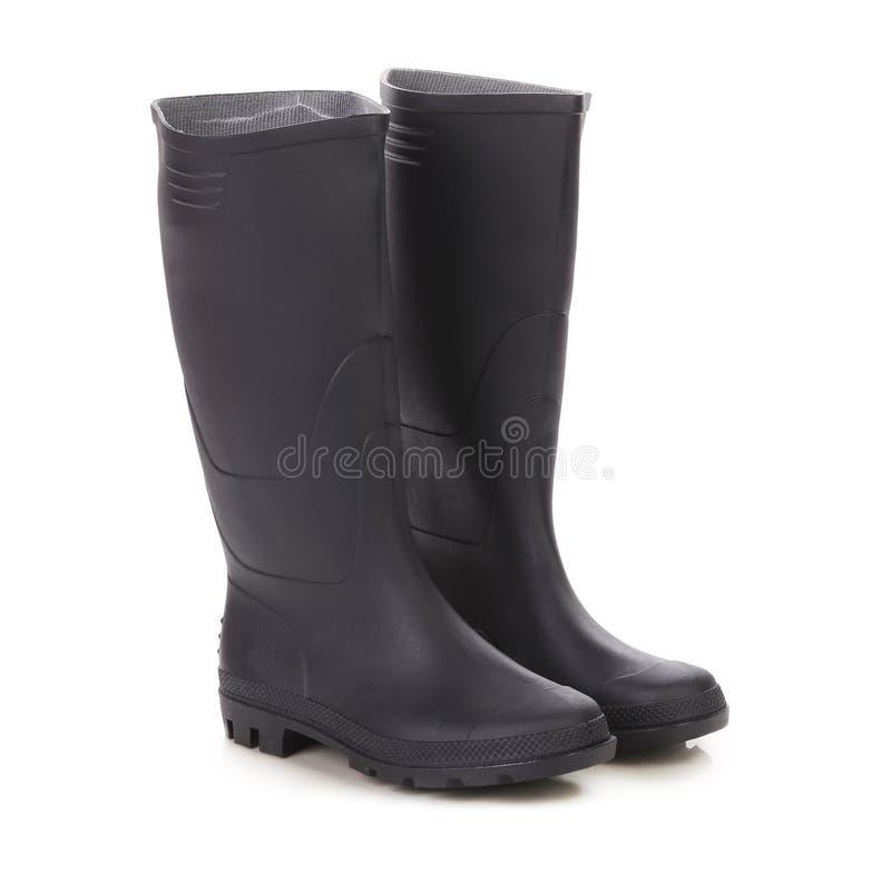 Ботинки пар высокие резиновые. стоковое фото