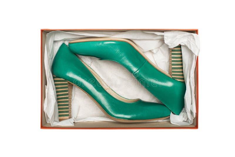 ботинки пятки коробки высокие стоковое изображение rf