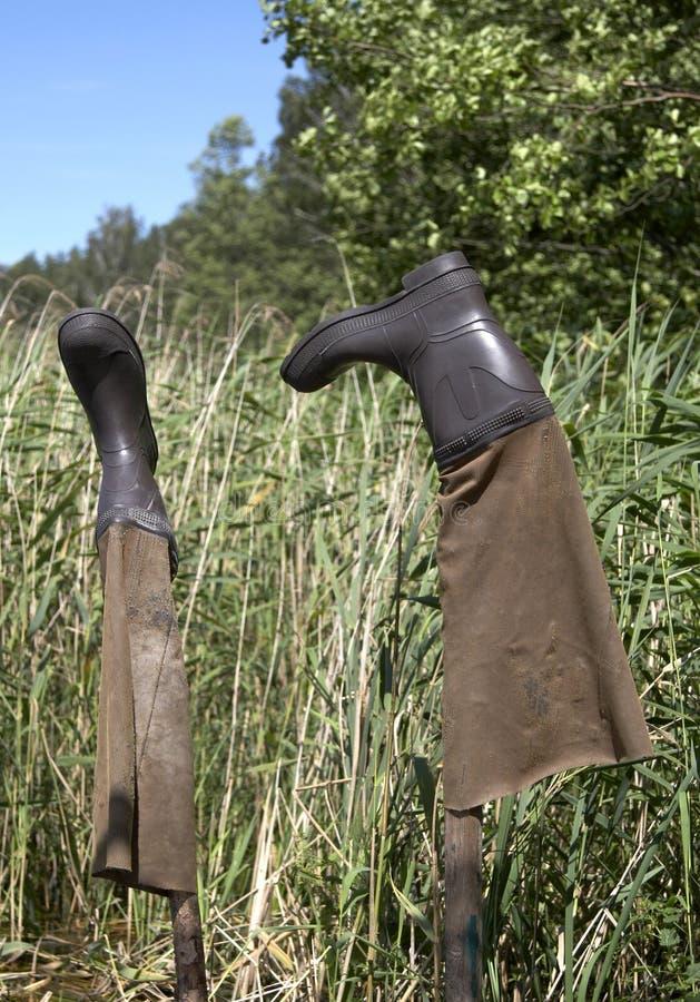 ботинки рыболовства стоковые изображения rf