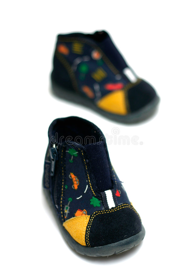 ботинки сини младенца стоковое фото