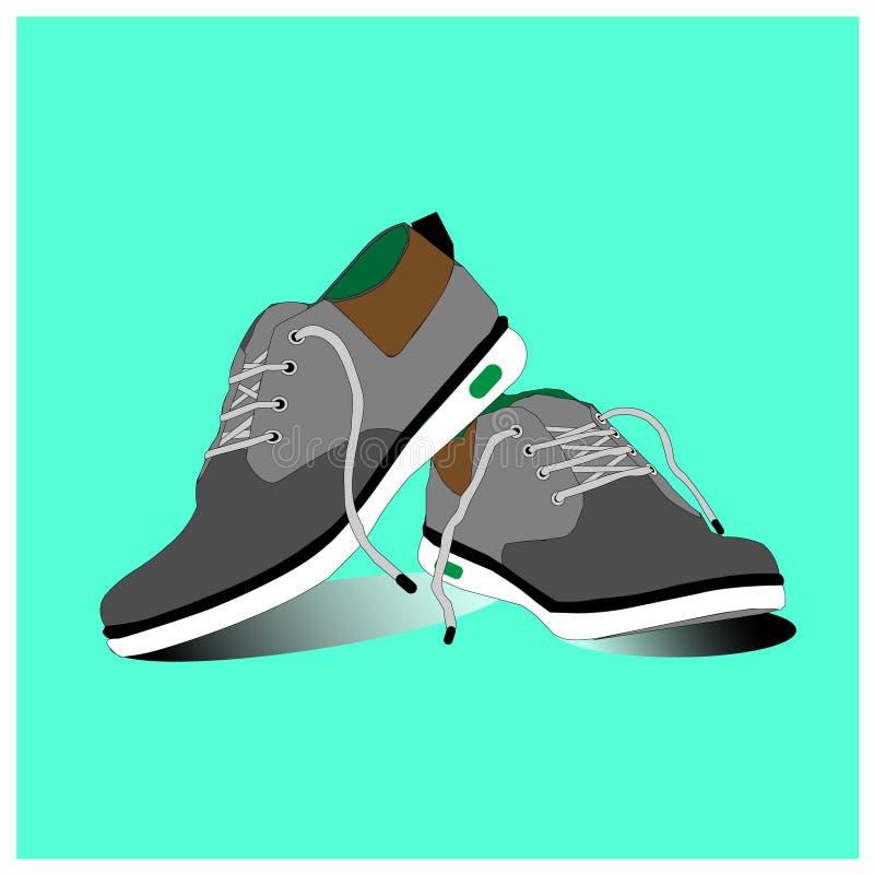 Ботинки спорт с ремнями иллюстрация штока