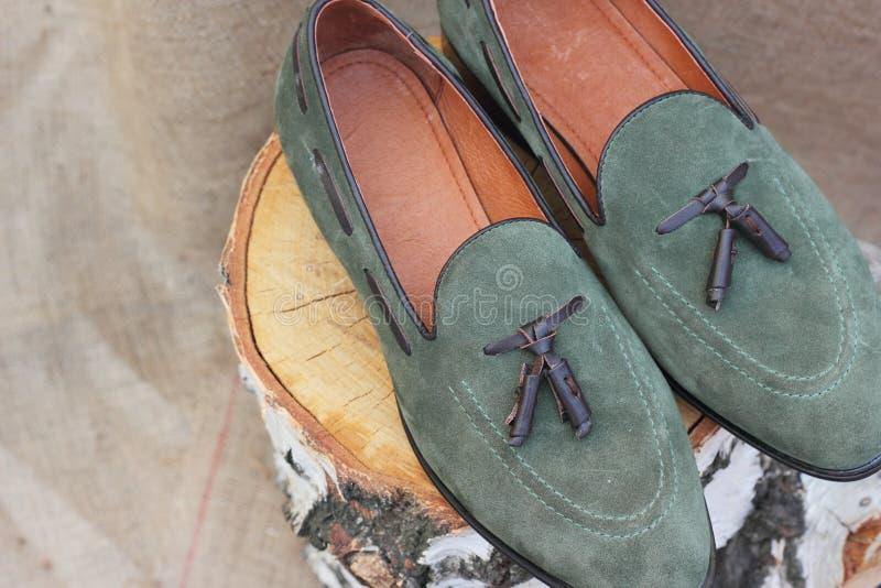 Ботинки сделанные из неподдельной кожи стоковая фотография rf