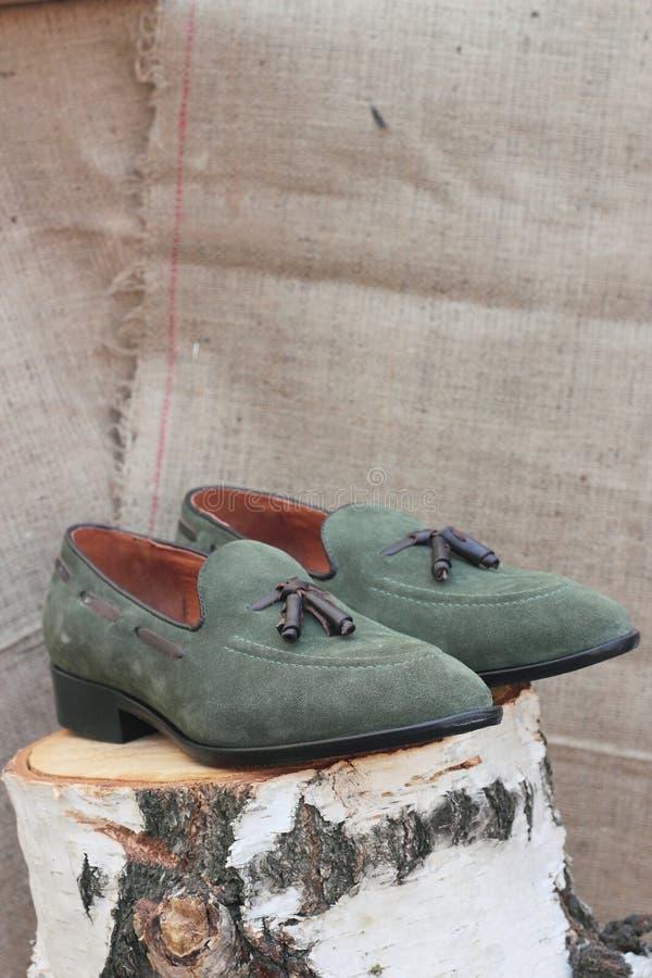Ботинки сделанные из неподдельной кожи стоковое фото rf