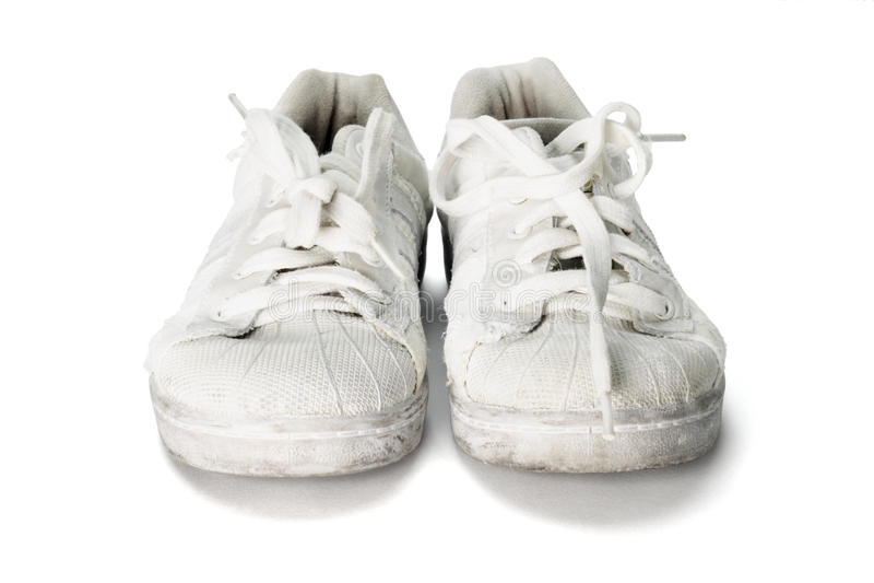 ботинки холстины старые стоковое изображение
