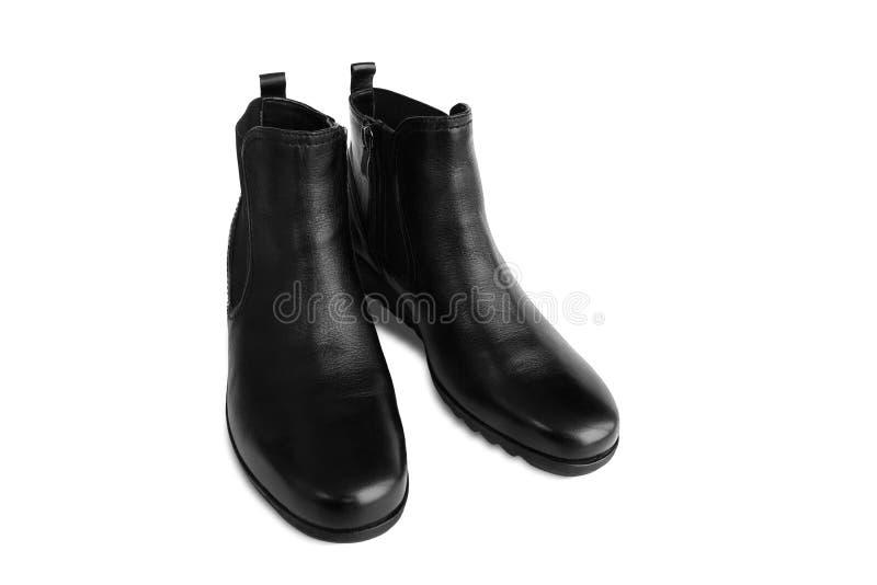 Ботинки чернокожих женщин кожаные изолированные на белой предпосылке стоковые фото