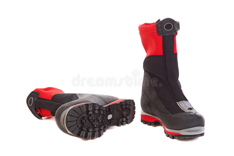 ботинки hiking пары стоковое фото rf
