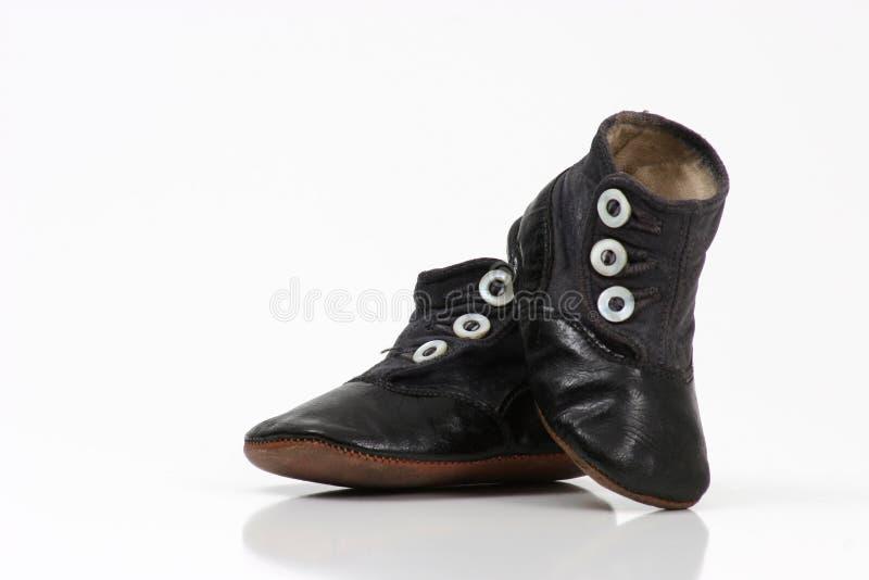 ботинки iv младенца стоковое изображение rf