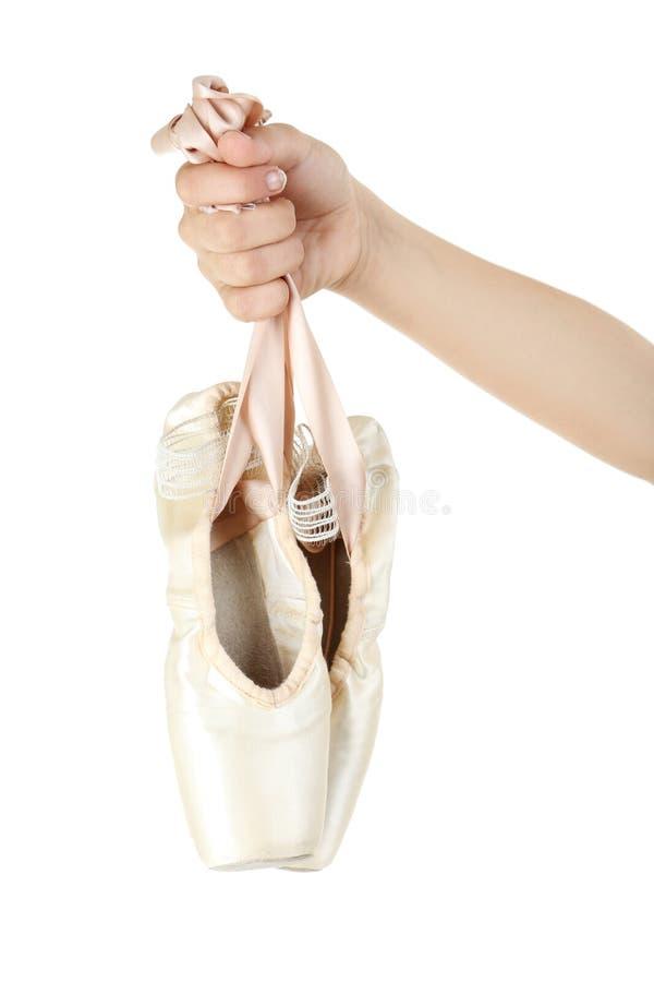 Ботинки Pointe стоковые изображения