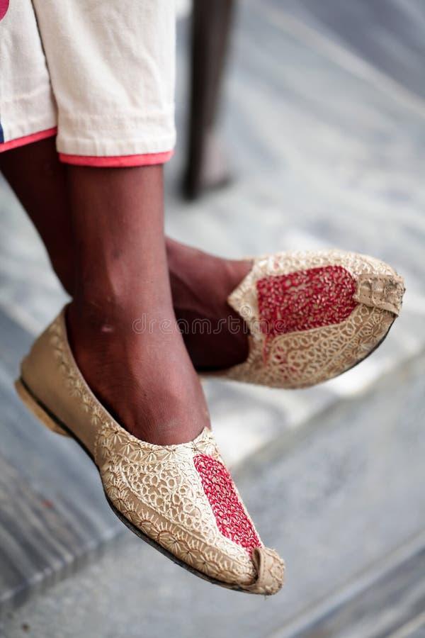 ботинки punjabi стоковое фото rf