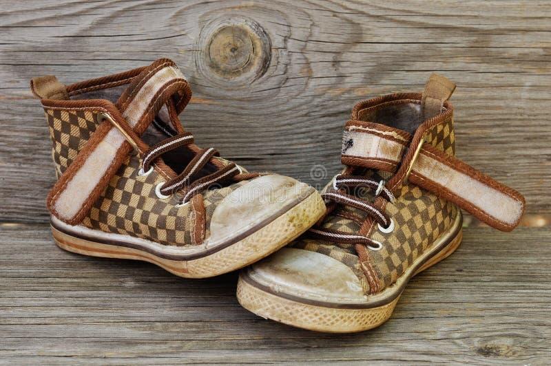 Ботинки ` s детей стоковые изображения rf