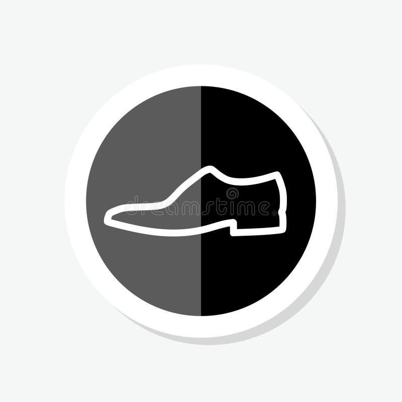Ботинок ботинка людей классический Логотип ботинка Стикер ботинка бесплатная иллюстрация