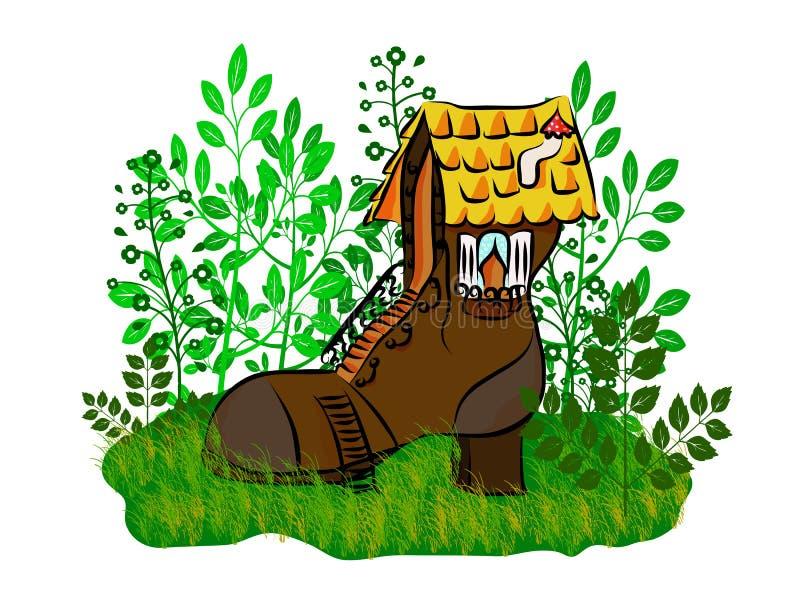 ботинок дома малый иллюстрация вектора
