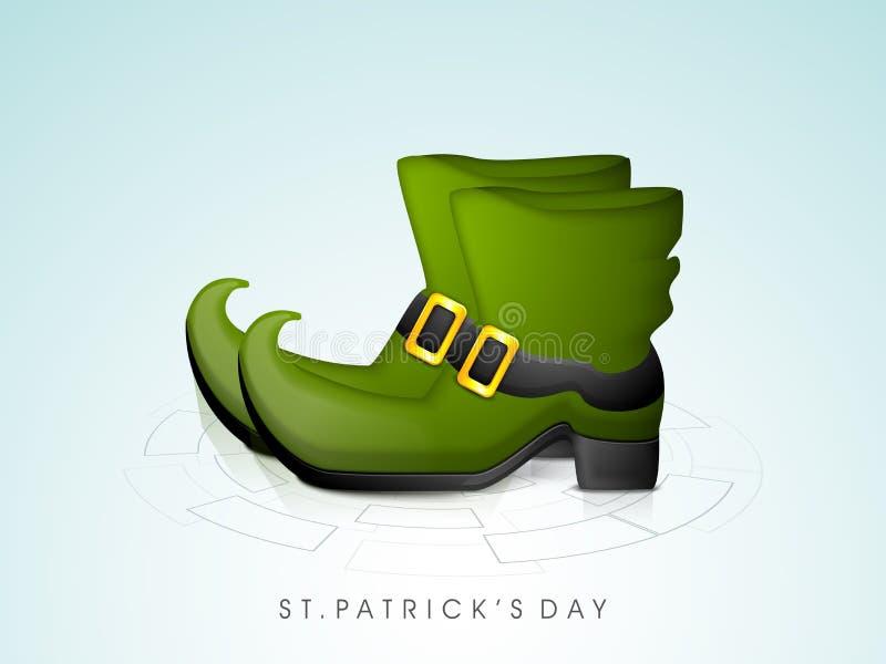 Ботинок лепрекона торжества дня счастливого St. Patrick бесплатная иллюстрация