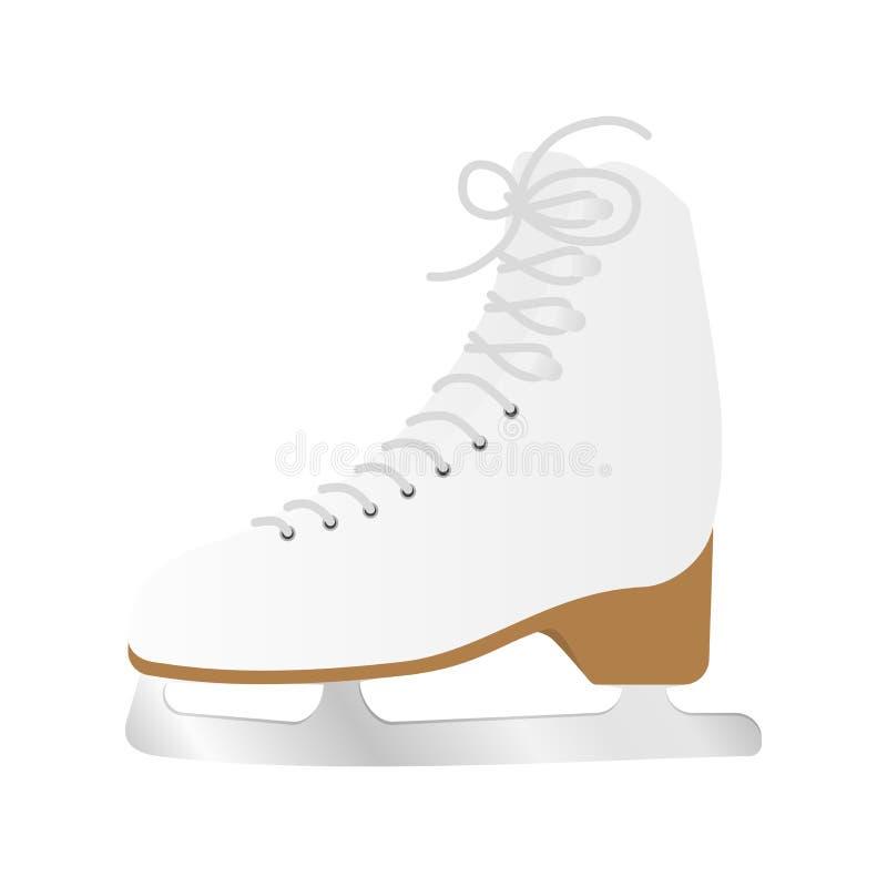 Ботинок конька льда иллюстрация штока