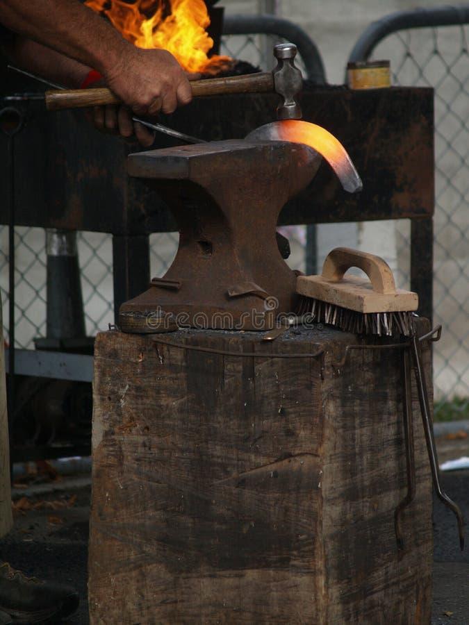 ботинок лошади горячий красный стоковая фотография