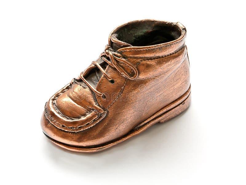 ботинок младенца бронзовый стоковые фотографии rf