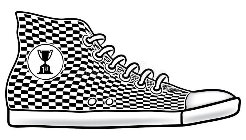 ботинок первого места идущий бесплатная иллюстрация