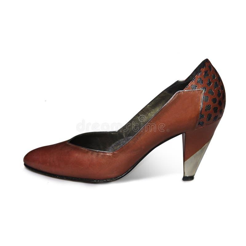 ботинок пятки высокий красный стоковые фотографии rf