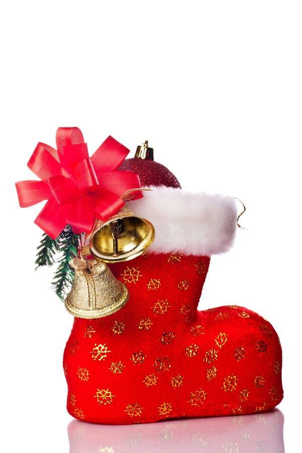 Download ботинок украсил красный S Santa Стоковое Фото - изображение насчитывающей карточка, одно: 17616088