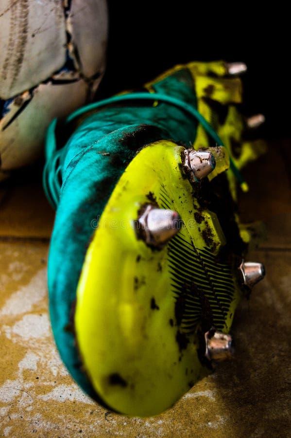 Ботинок футбола стоковое изображение rf