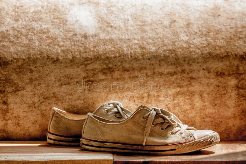 ботинок холстины старый стоковое изображение