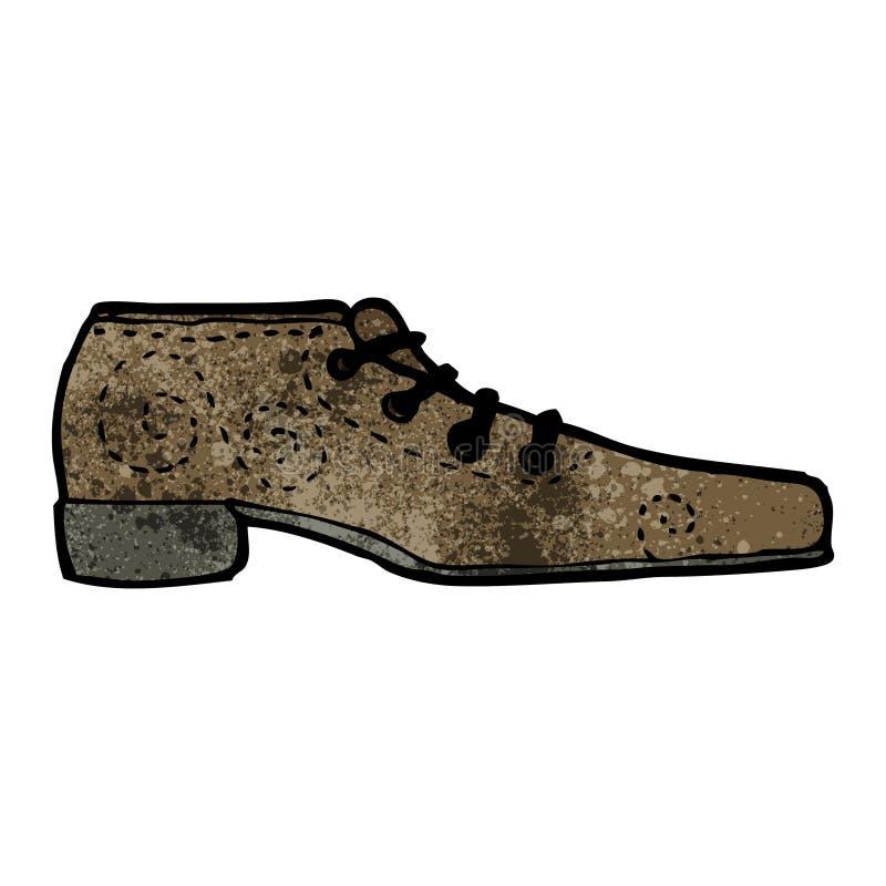 ботинок шаржа иллюстрация вектора