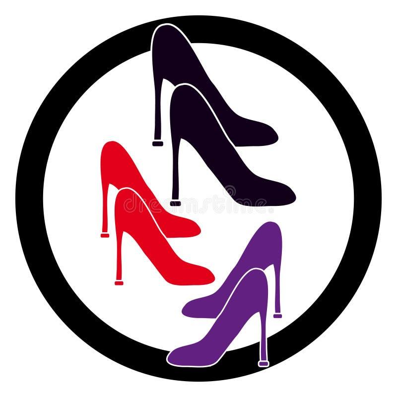 Ботинок ` s женщин на белой предпосылке иллюстрация штока