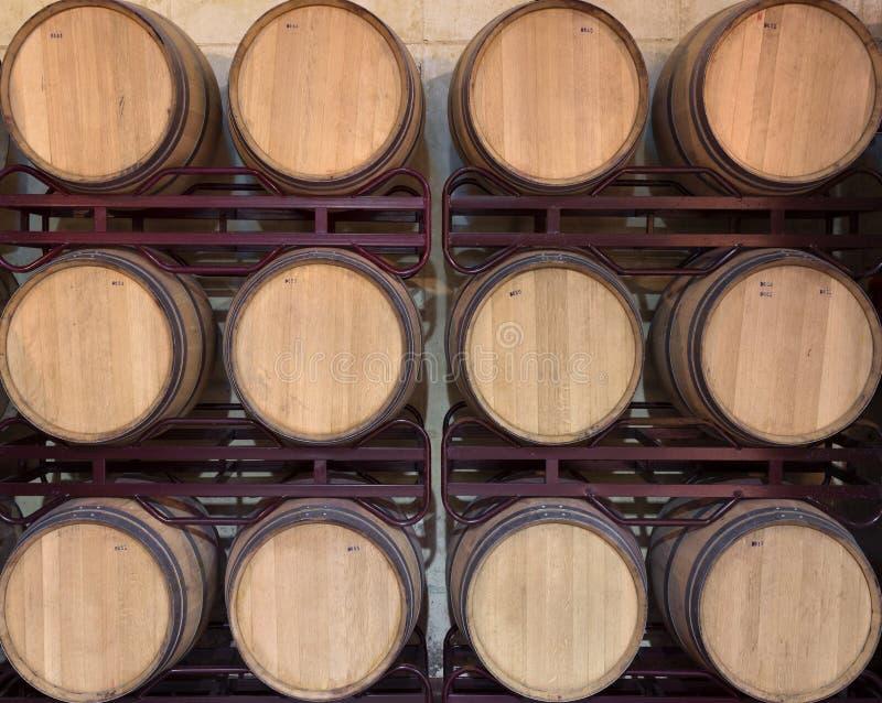 Бочонки вина стоковые фотографии rf