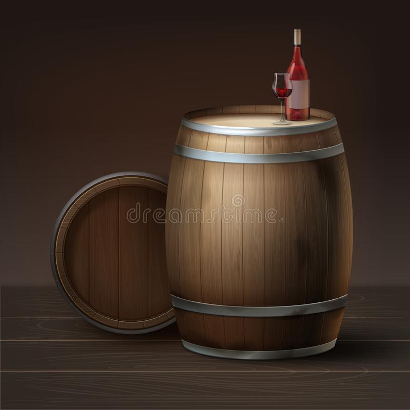 Бочонки для вина бесплатная иллюстрация