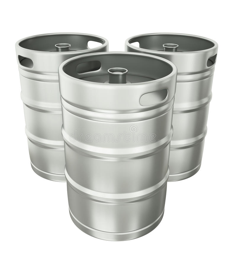 бочонки пива иллюстрация вектора