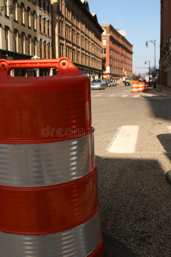 Бочонок городской Гранд-Рапидс конструкции стоковое фото rf