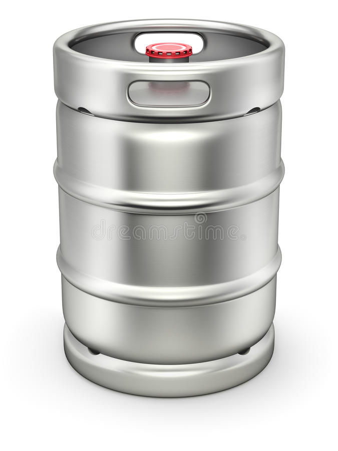 Бочонок пива металла иллюстрация штока