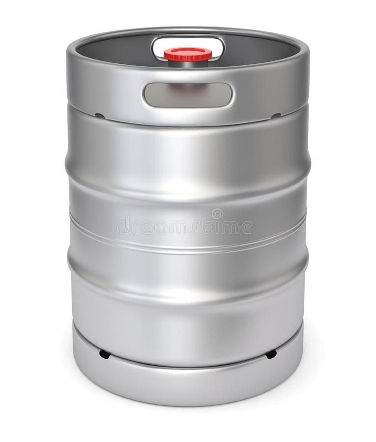 Бочонок пива металла иллюстрация вектора