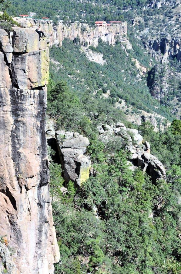 боязнь высоты каньона медная стоковая фотография