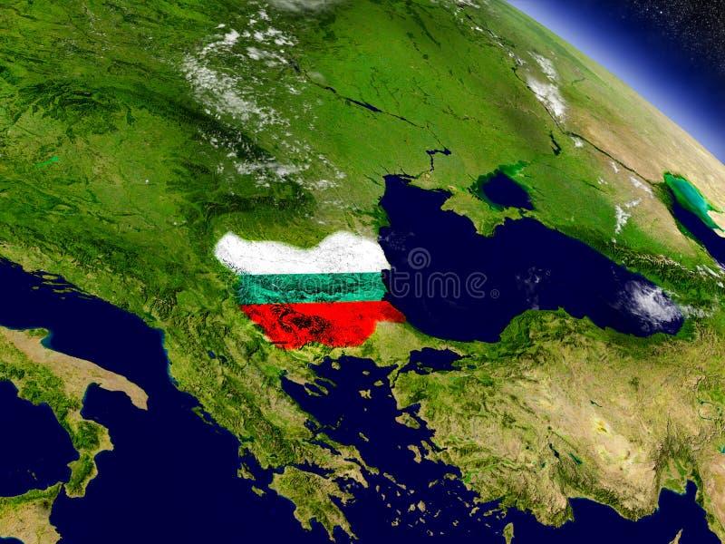 Download Болгария с врезанным флагом на земле Иллюстрация штока - иллюстрации насчитывающей astrix, европа: 81804580