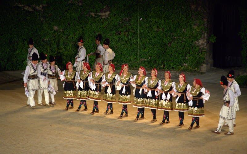 Болгарская группа народного танца стоковое фото rf
