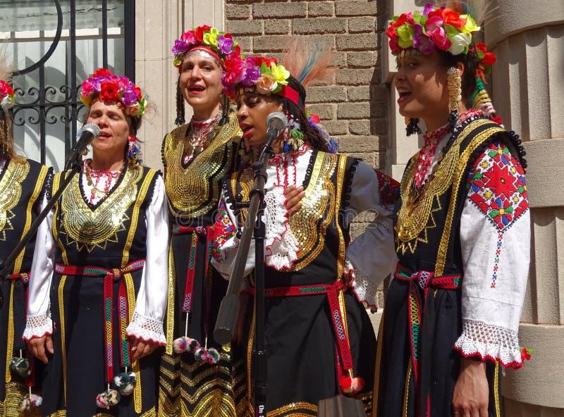 Болгарские поя женщины стоковое изображение rf