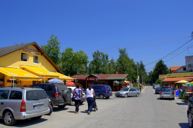 Болгарский горнолыжный курорт стоковое изображение rf