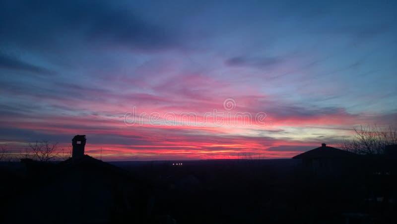 Болгарский заход солнца стоковое фото rf