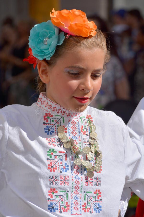 Болгарский фольклорный танцор стоковые изображения rf