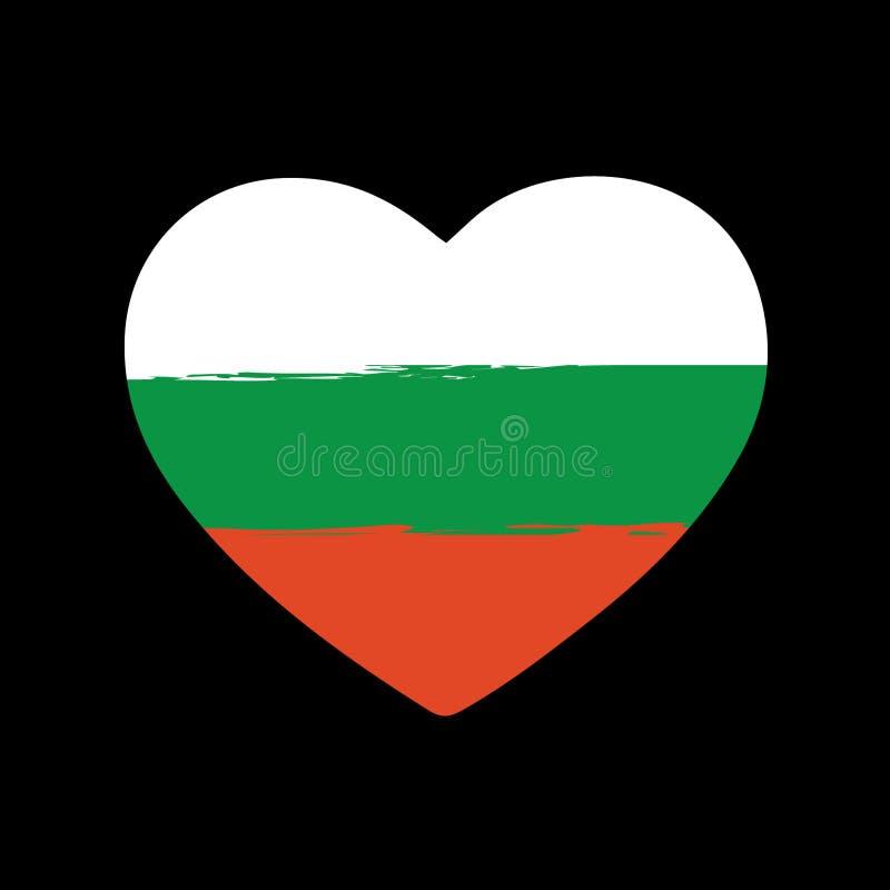 Болгарское сердце Brushstroke флага иллюстрация вектора