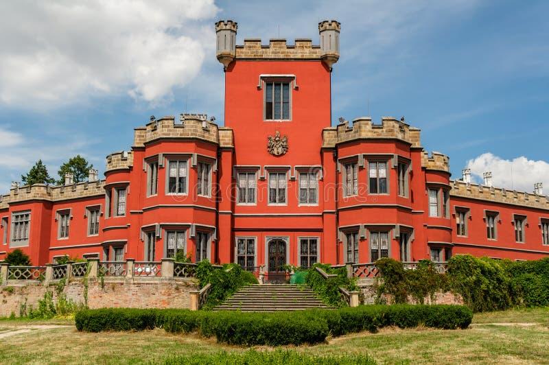 Более близкий взгляд к замку Hradek u Nechanic, чехии стоковые изображения rf