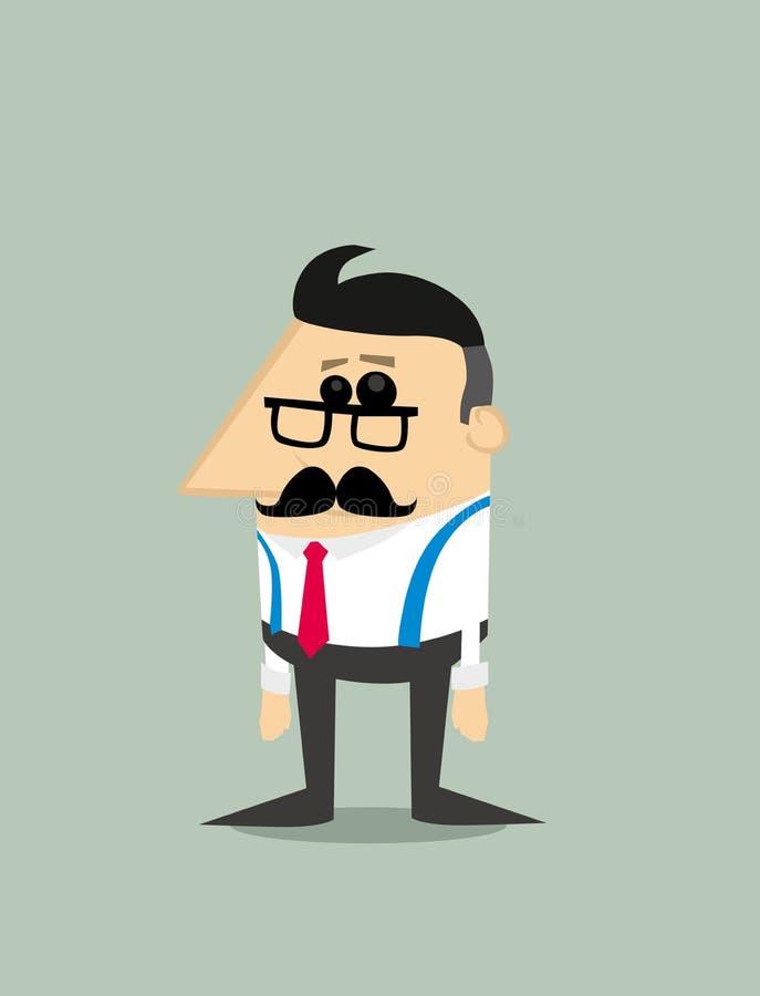 Более старый бизнесмен шаржа бесплатная иллюстрация