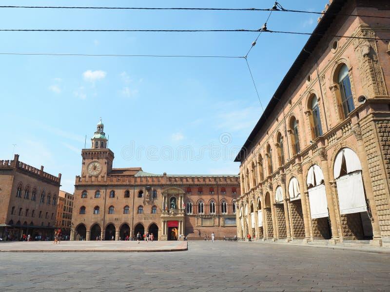 Болонья maggiore аркады стоковые изображения rf